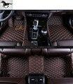 Custom conjunto completo esteras del piso del coche para Land Rover Discovery 4, 7 asientos de cuero 3d tapetes alfombras de coche tapetes de coche de carga rups