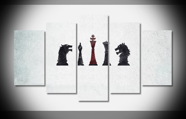 6792 free game of thrones Poster print on canvas wooden frame framed ...