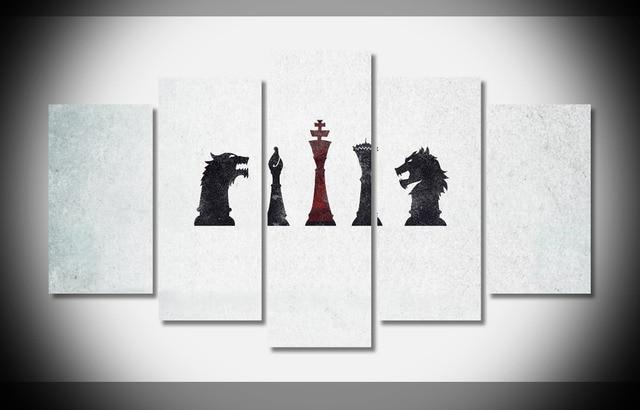 6792 gratis game of thrones Poster canvas houten frame omlijst ...