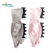 Cartoon Dragon Hooded Baby Rompers Newborn Boys Girls Autumn Clothing Cotton Long Sleeve 3D Jumpsuits Outerwear Kids Costume