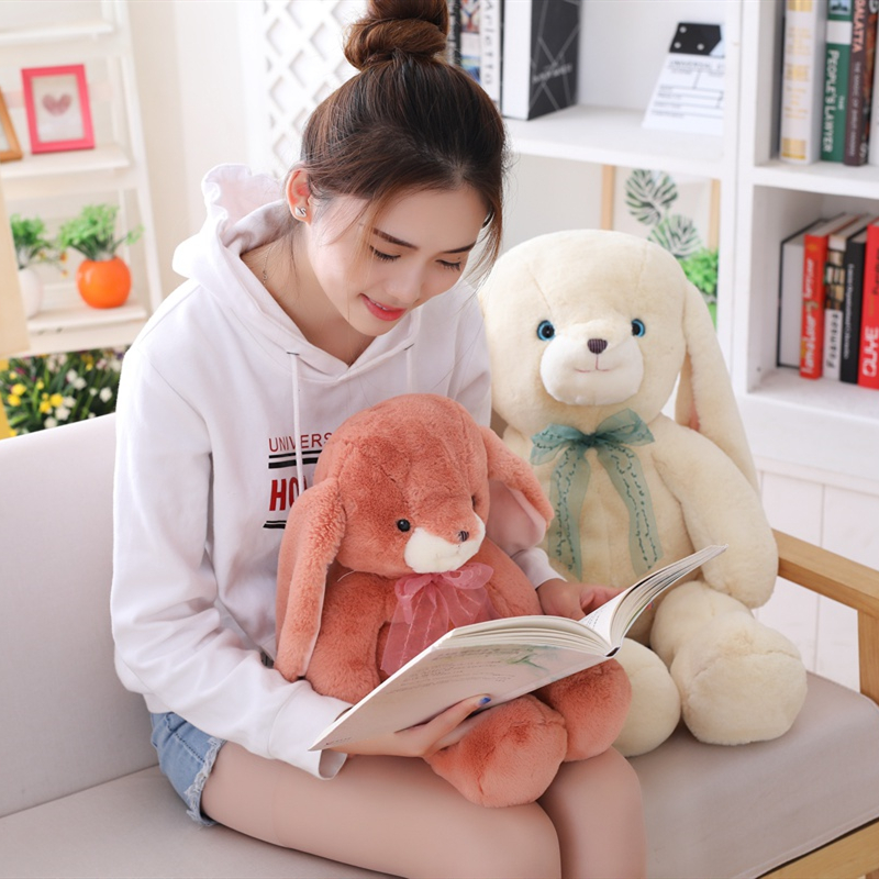 Kawaii 60cm 80cm Plush Rabbit Toy Soft Cloth Stuffed Easter Gift Decor Baby Appease Toys For Children Kids Newyear