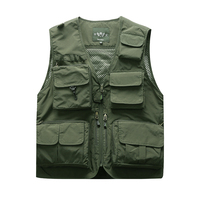 NIAN JEEP 2019 New Vest summer men's outdoor quick drying mesh photography fishing travel vest vest male