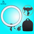 LIETU 65B 5500K adjustable Dual power supply Photo Studio Ring Light LED Video Light for Canon nikon Auxiliary light