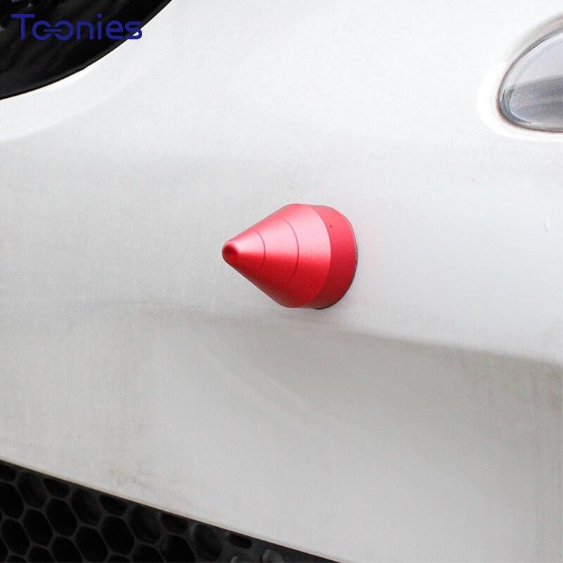 1 pcs Anti Collision Protection Auto Décoration De Voiture Autocollant Smart Fortwo Anti Suivi De Voiture Accessoires Ronde Cône Universal Decal