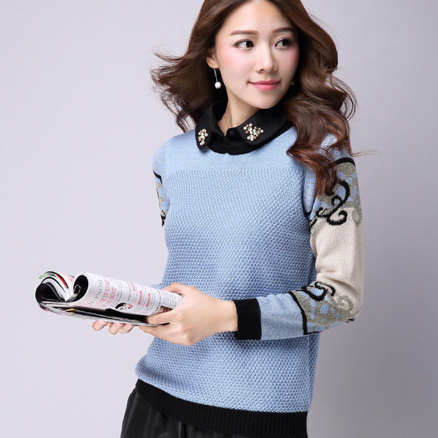 Womens Pullover Knitted Basic Shirt Female Long Sleeve Winter Women