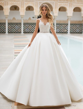 Sexy A Line Wedding Dress Lace Appliques Illusion Bridal Dress Sleeveless Wedding gowns Floor Length lace insert sleeveless a line dress