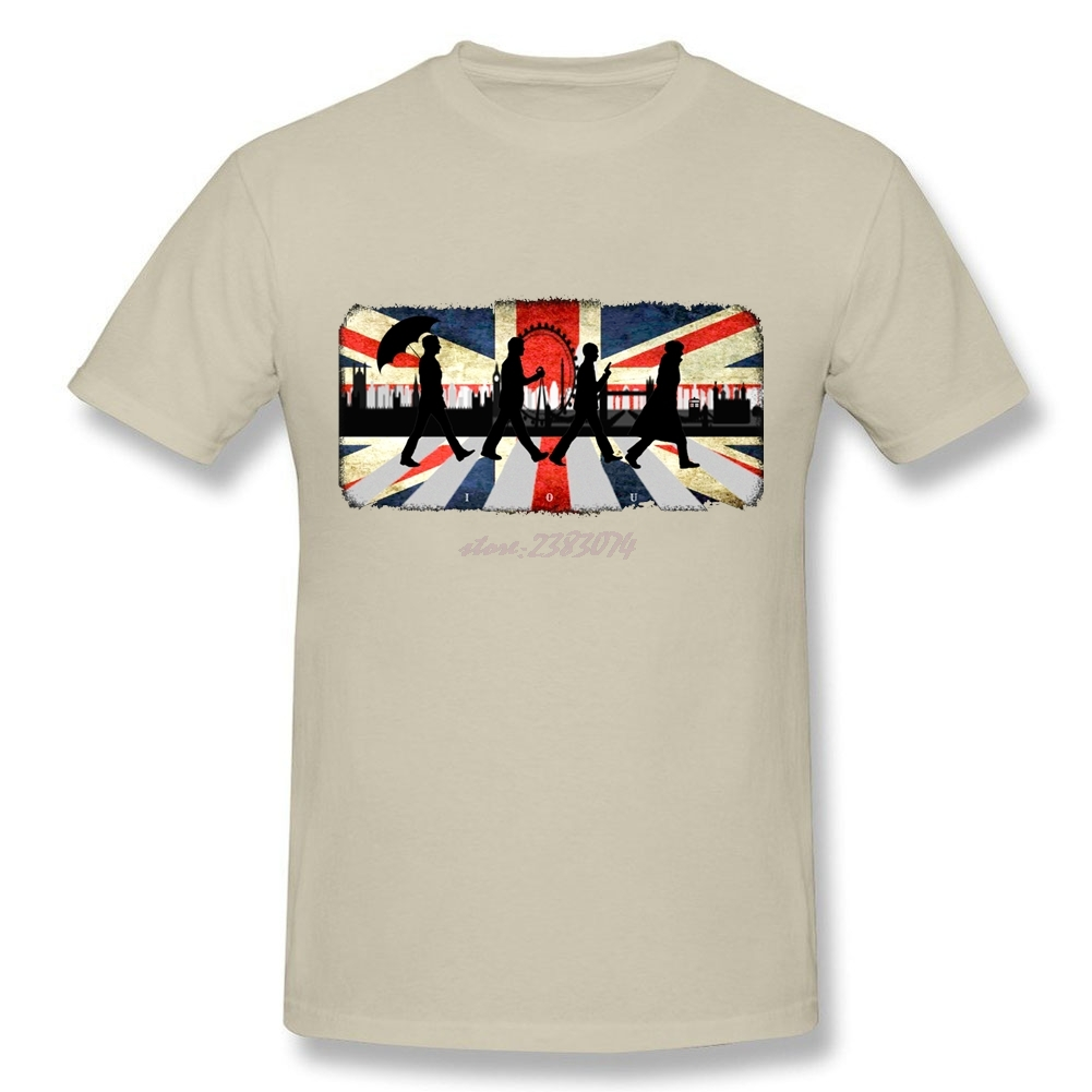 Design your own t shirt cheap uk - Classic Romance Abbey Road Men Softy Fabric T Shirt Male S Uk Classical Round Neck Short