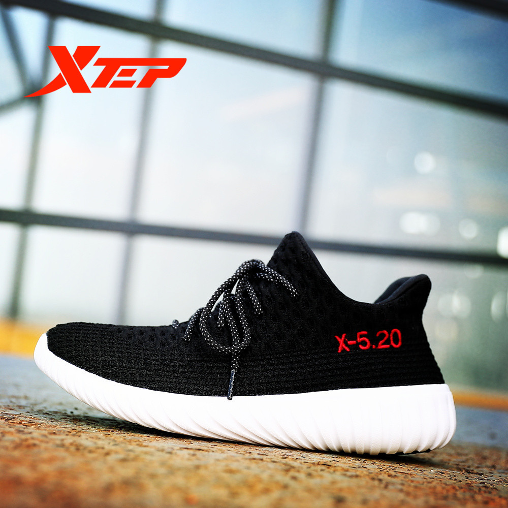 XTEP 2017 Hot Man Heart Love Breathable Couple Skateboarding Sport Outdoor Shoes Sneakers For Men Free Shipping Flexracer