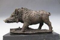 Wild Boar Pig Pure Copper Bronze Nouveau Animal Figure Statue Copper garden