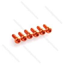 Alta resistência M3x8mm 7075-T6 Alumínio botão hex parafusos/parafusos frete grátis para Zangão 10 pçs/saco