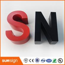 Niestandardowe 3 D kanał ze stali nierdzewnej litery znak tanie tanio shsuosai