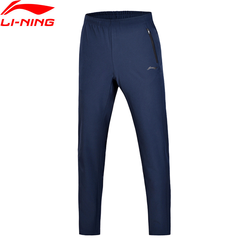 Li-Ning Men Training Essentials Sweat Pants Regular Fit Woven LiNing Comfort Fitness Sport Pants Trousers AYKN007 MKY368 li ning women training sweat pants loose fit polyester spandex comfort lining sports pants akln016 wky155