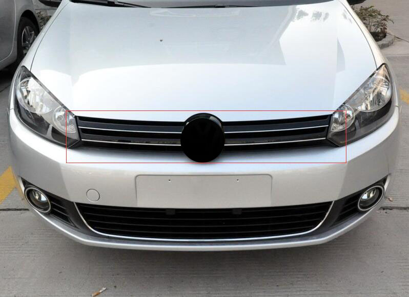 Front Grille Around Trim Front Grills Around Trim Racing Grills Trim For vw Volkswagen golf 6 MK6 2010-2013 ABS 1pc for kia k2 high quality aircraft grade aluminum front grille around trim racing grills trim fo