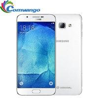 המקורי סמארטפון סמסונג גלקסי A8 A8000 RAM 2 גרם 16 גרם/32 גרם ROM 4 גרם טלפון נייד 5.7 ''16.0MP טביעת אצבע אוקטה Core NFC נייד