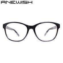 ANEWISH Literary Wild Lnflux Retro Glasses Frame Glasses Women Myopia Frame Men Metal Frame Dsigner Oculos De Grau Femininos Q58