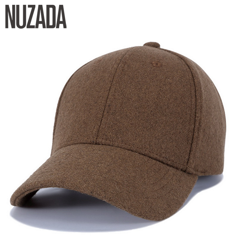 Brand NUZADA Bone Snapback Caps Imitation Wool Men Women Couple Baseball Cap Spring Summer Autumn Solid color Thick Hats игрушка неразбивайка baby trend собака