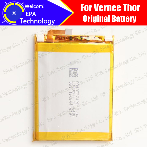 Vernee Thor Battery 100% Official Original 2800mAh Battery For Vernee Thor Mobile Phone, In Stock