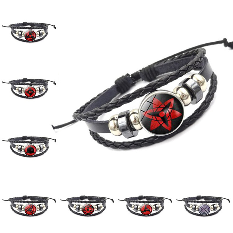 Anime Naruto Itachi Sharingan Hand Chain Cosplay Costumes Accessories Props Akatsuki eyes Bracelet Jewelry Kakashi Sasuke(China)