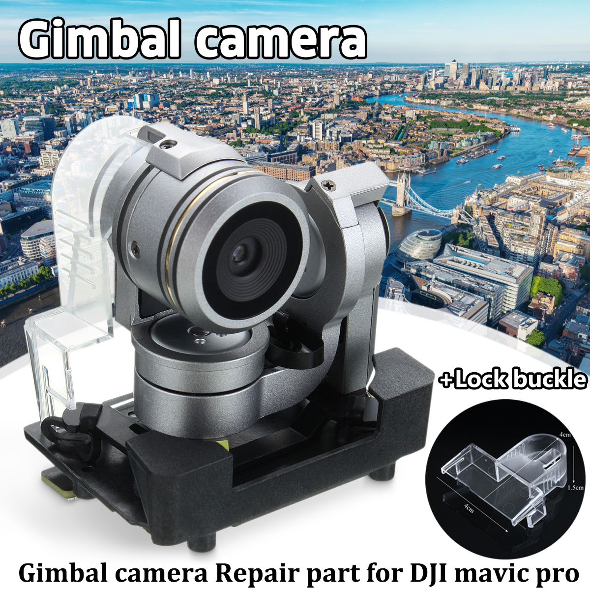 4K Camera Gimbal for Original DJI Mavic Pro Drone Spare Parts FPV RC Quadcopter Replacement Accessories+Holder lock buckle квадрокоптер набор dji mavic pro 4k quadcopter бпла чёрный