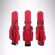 New Golf Aviation Bag portable Golf package Golf Travel Bag Pu Cover Thicken Air Bag With Wheels pgm golf bag golf bag hard shell tug with cipher airbag