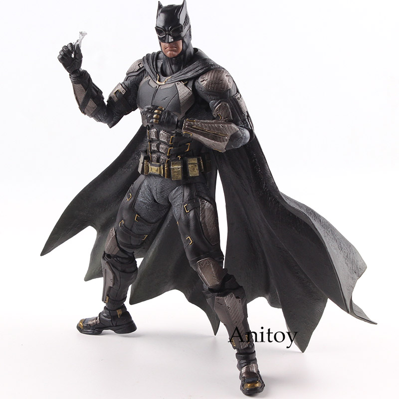 DC Justice League No.1 Batman Play Arts Kai Tactical Suit Ver. PVC Action Figure Batman Figurine Collectible Model Toy 25cm play arts kai street fighter iv 4 gouki akuma pvc action figure collectible model toy 24 cm kt3503