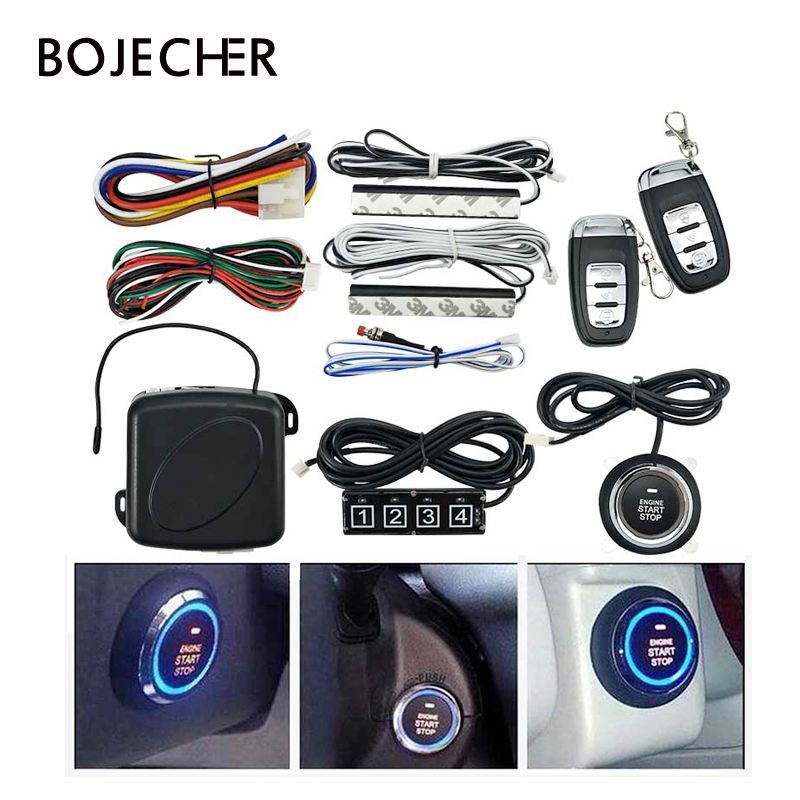 2019 Newest Car Alarm Engine Push one start stop engine with Remote control Keyless Entry System