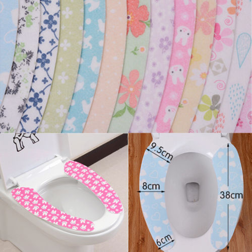Home Bathroom Toilet Seat Closestool Washable Soft Warmer Mat Cover Pad