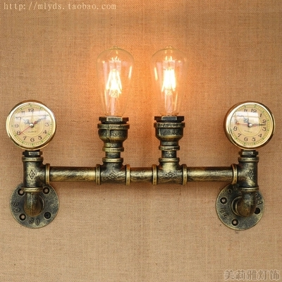Lamps & Shades Wall Lamps Nordic Loft Style Water Pipe Lamp Edison Wall Sconces Rh Retro Wall Light Fixtures For Home Vintage Industrial Lighting