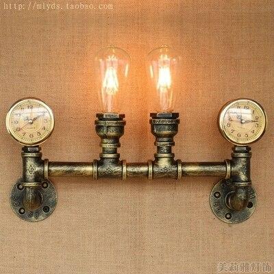 Nordique Loft Style Creative Horloge Conduite D\'eau Lampe ...