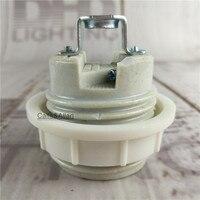 2/10 adet Seramik yuva E14/E27 Çömlek ve Porselen lamba tutucu DIY avize ışık soket AC110V içinde/220 V aydınlatma tabanı