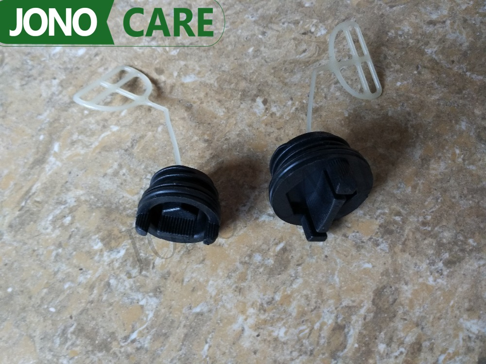 4PCS Free shipping Fuel cap and Oil caps for Husqvarna 136 137 141 142 254 257 262 33 36 38 41 50 51 55 RANCHERS CHAINSAW recoil pull start starter assemby assy kit for husqvarna 36 41 136 137 141 142 chainsaw genuine parts 530071968