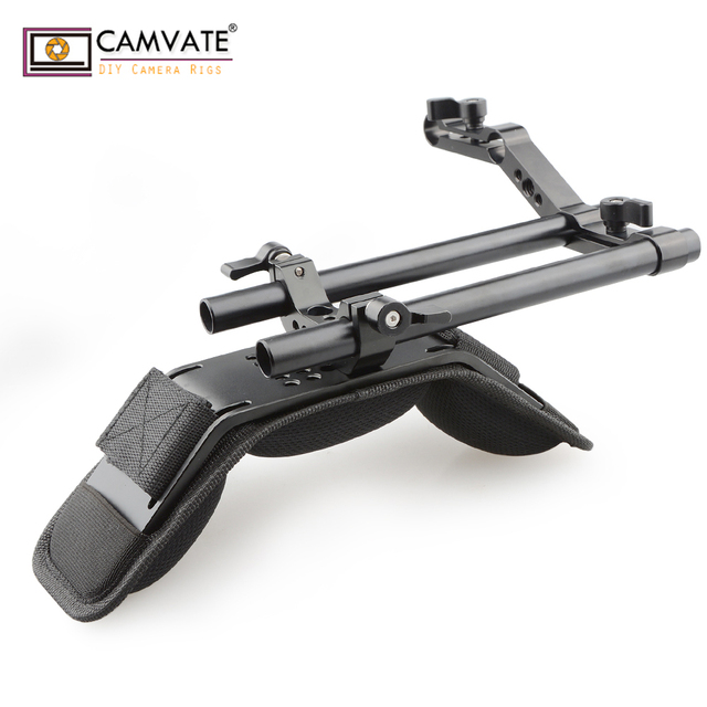 CAMVATE Camera Shoulder Mount Kit With Foam Shoulder Pad & Z Shaped Railblock Rail For DSLR Camera / DV Camcorder Support System