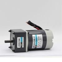 New 12V/24V DC 90W Gear Motor Miniature High Torque Motor Slow Speed Small Motor Easy Gear Motor