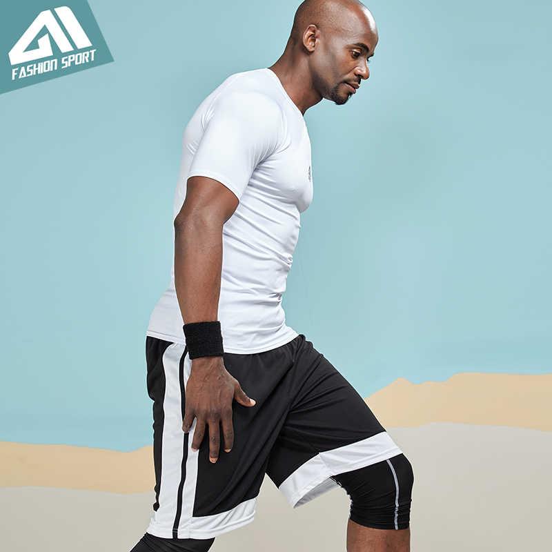 Aimpact Atletik Kompresi T-shirt untuk Pria Binaraga Gym Latihan Olahraga Lari Pembentuk Tubuh Cepat Kering Celana Ketat Tshirts AM1051