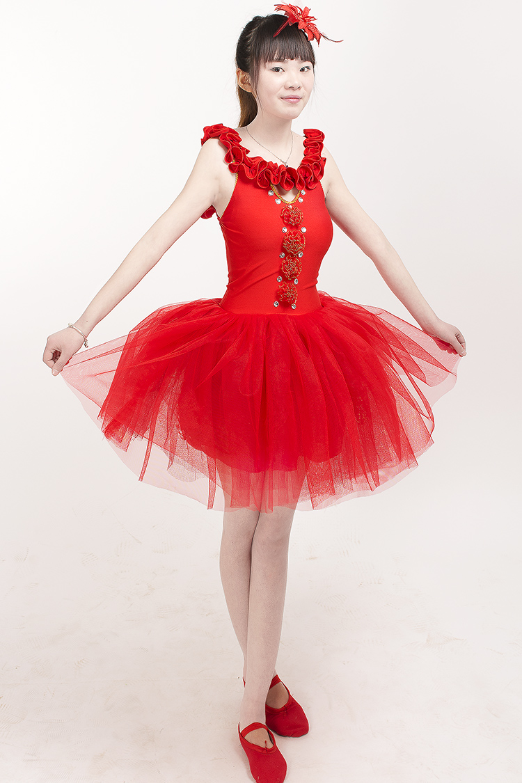 US $45 43 7% OFF|women ballet dress high class girl's ballet dresses  Classical latin TUTU women dance costume Performanc Costume red color-in  Ballet