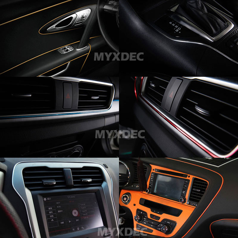 Image 4 - 5M Car Interior Mouldings Trims Decoration Line Strips Car styling Door Dashboard Air Outlet Decorative Sticker Auto Accessories-in Car Stickers from Automobiles & Motorcycles