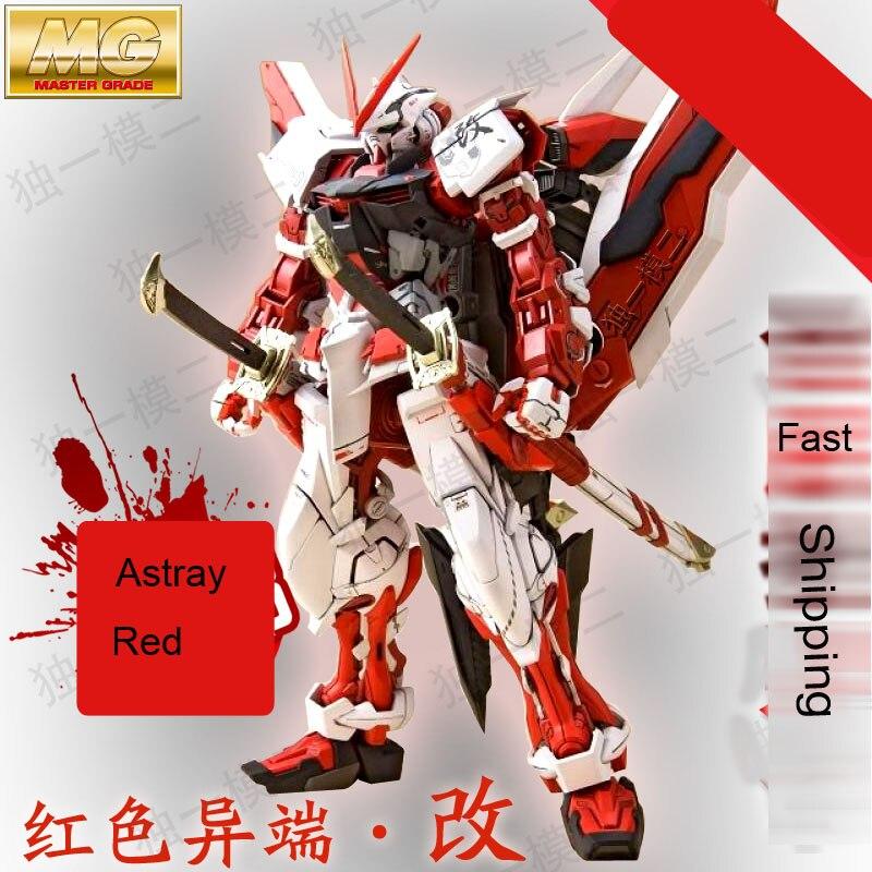 Japanese anime figures DaBan Model Gundam 1 100 MG Astray Red Frame font b robot b