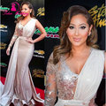 Fashion Elegant Beaded One Shoulder Evening Dresses Long Sleeve Grammy Awards Celebrity Dreseses