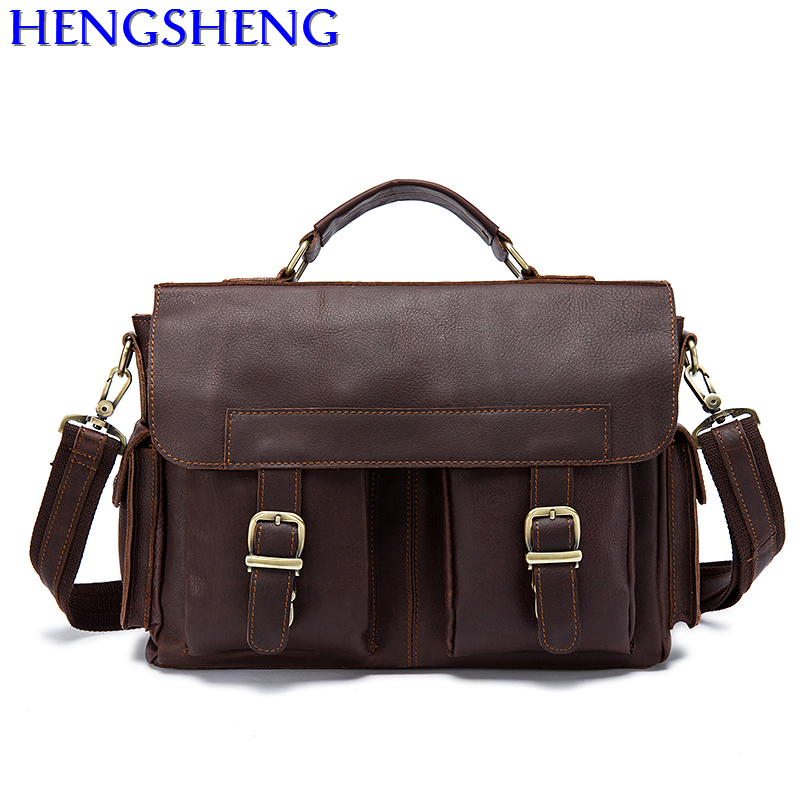 Free Shipping casual men genuine leather briefcase with quality cow leather men messengers bag and leather male shoulder bags dhl free shipping brand clothing cow leather long jackets men s genuine leather black casual jacket fashion classics