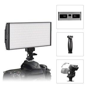 Светодиодный двухцветной видеосветильник Tolifo, 30 Вт, светодиодный светильник, портативная панель с дисплеем, горячий башмак, установленный ...
