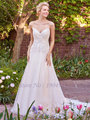 Liyuke J510 Elegant Tulle Sweetheart A-Line Wedding Dress Beading Applique Spaghetti Strap Backless Bride Dress vestido de noiva
