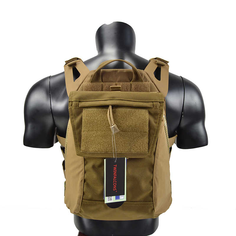 Crye CP Pack Zip-On Panel For JPC CPC AVS Military Molle Zipper Pack Tactical Pouch Bag 1000D Cordura TW-P038