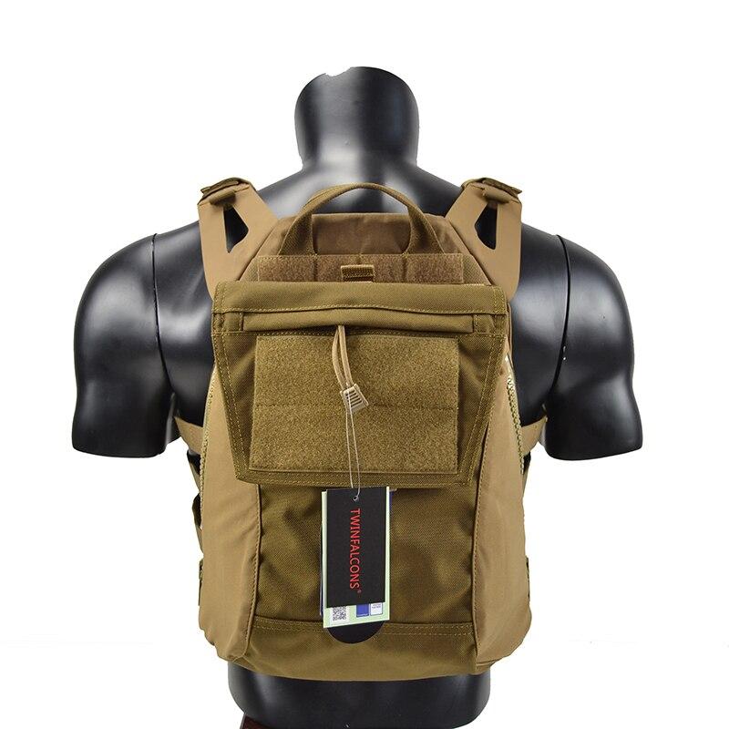 Crye CP Pack Zip-On panneau pour JPC CPC AVS militaire Molle Pack de fermeture à glissière sac de poche tactique 1000D Cordura TW-P038