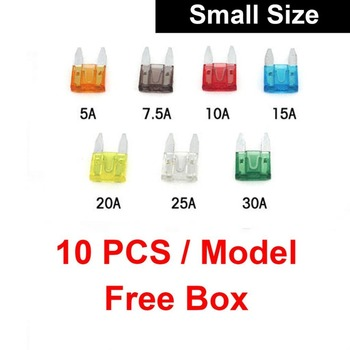 10PCS Auto Small Size Blade Fuse 70pcs Assortment Set for Car Truck Motor ATM Box Add-A-Circuit Fuse Holder APS ATT LOW PROFILE