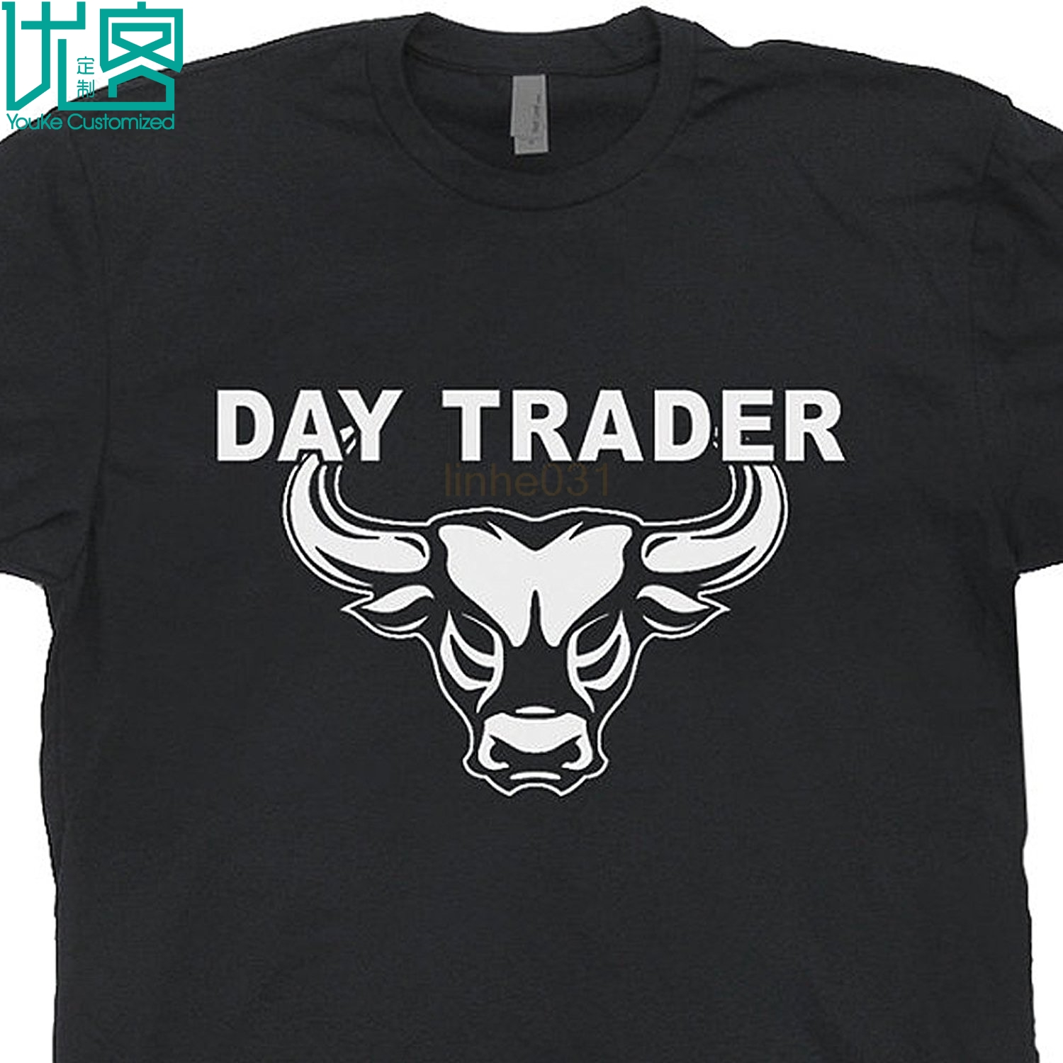 2018 Day Trader T Shirt Bitcoin Shirts Wall Street Mad Stock Market Money Trading Tshirt Forex Book Guide Wall Street Bull Tee image