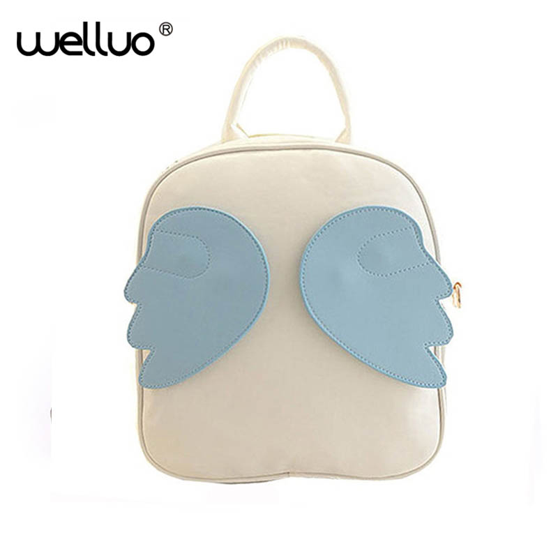 2018 Children Backpacks Fancy Kids School Bags Leather Satchel Lovely Student Packs Angel Wings Rucksack Bolsos mochila XA1011B скатерть angel ya children tsye zb266 88