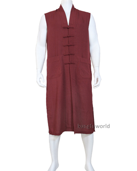 25 Colors High Quality Buddhist Monk Long Vest Martial arts Meditation Clothes Kung fu Tai chi Suit