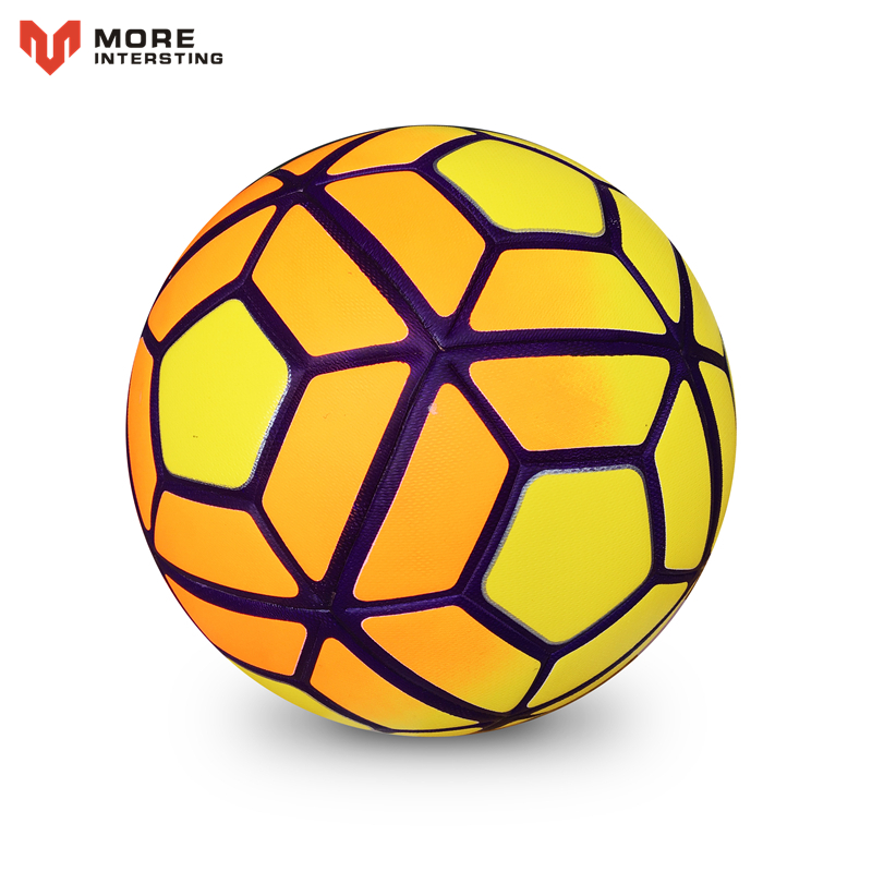 Hot 2016 Size 5 Size 4 Seamless PU Football Ball Champions League Anti-slip Granules Soccer Ball High Quality For Match