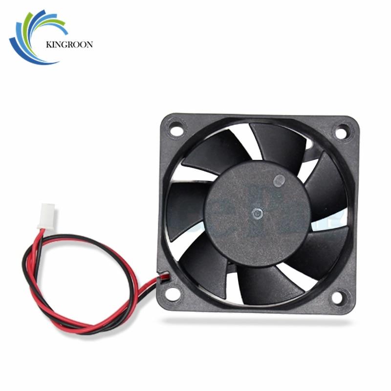 5pcs/lot 6015 Cooling Fan 12 Volt 60*60*15 Mm 3D Printers Parts 3 Pin Brushless 6CM DC Fans Cooler Radiator Part Quiet Accessory