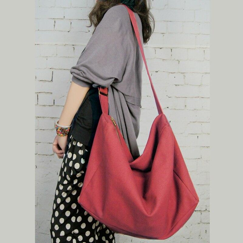 4954e9214811 women large canvas handbags cotton ladies handmade bags casual cross body  shoulder bag original design vintage